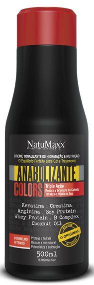 Natumaxx - Tonalizante Anabolizante Colors Vermelho Intenso - 500ml