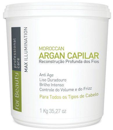 For Beauty - Gloss Max Illumination Argan Oil Reconstrução Profunda 1kg