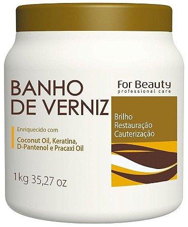 For Beauty Banho de Verniz Brilho Cauterização e Restauração 1kg
