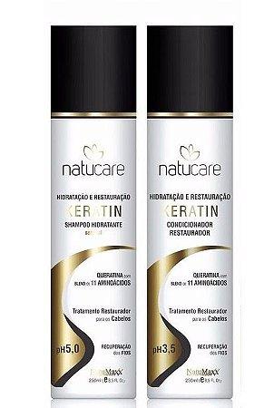 Kit Natumaxx Queratina Home Care Shampoo e Condicionador Keratin Natucare