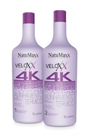 Kit Escova Progressiva Veloxx 4 K Natumaxx 2X1000ML