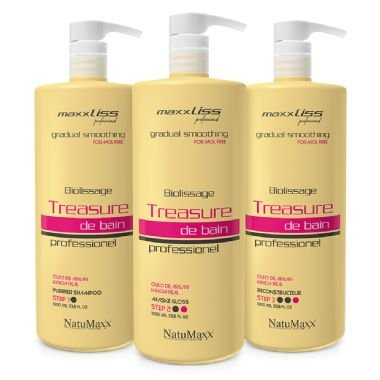 NATUMAXX - KIT Progressiva Total Free Biolissage Treasure DE BAIN PROFESSIONAL - 03 Passos