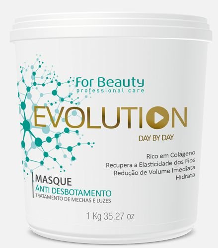For Beauty  Evolution Day by Day Máscara Redutora e Anti Desbotamento de Mechas e Luzes - 1 kilo