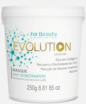 For Beauty  Evolution Day by Day Máscara Redutora e Anti Desbotamento de Mechas e Luzes - 250 ml