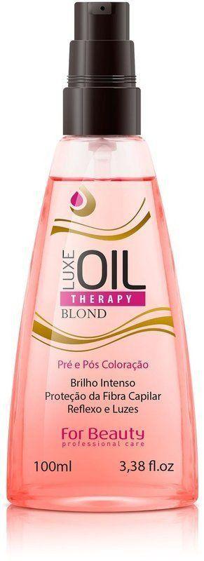 spray Luxe Oil Therapy Blond Pré e Pós Coloração da For Beauty - 100 ml