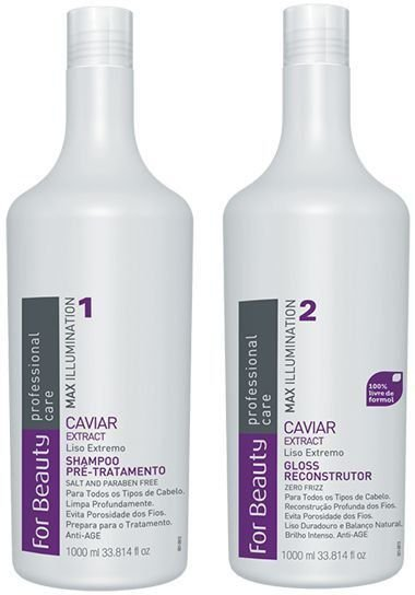 For Beauty Progressiva Gloss Reconstrutor Extract de Caviar 2x1000 Ml