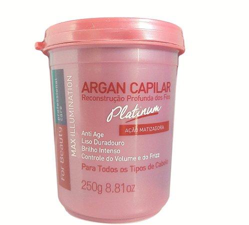 For Beauty Argan Reconstrução Platinum Max Illumination - 250 gr