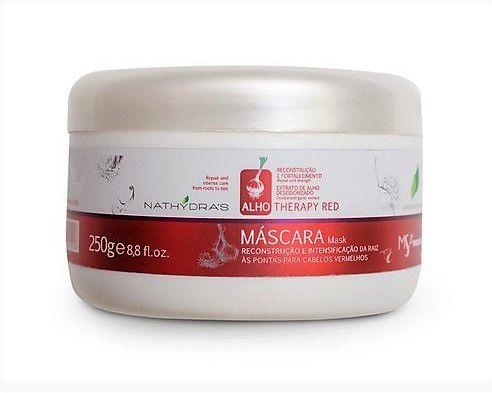 Nathydras Therapy Alho Mascara  (Red) Vermelha Intensificadora e Reconstrução - 250 gr