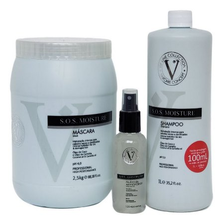 Varcare Concept S.O.S Moisture Kit Profissional  Vip Line Collection