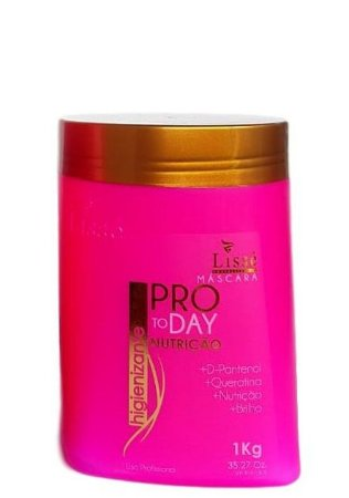 Lissé Nutrição Máscara D-pantenol e Queratina Profissional 1 Kg Pro To Day