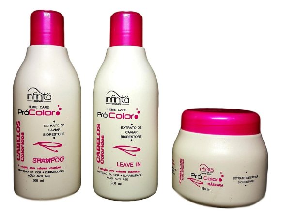 Infinitá Pró color Kit shampoo, Máscara e Leave in