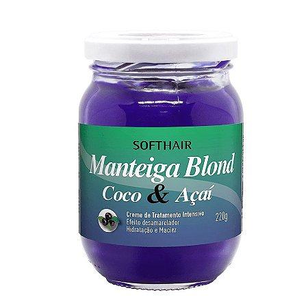 Soft Hair Manteiga Desamarelador Blond Coco e Açaí