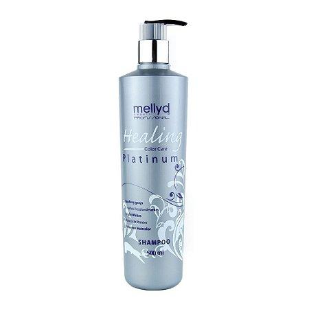 Mellyd Capelli Shampoo Healing Platinum Qualidade Profissional 500 mL