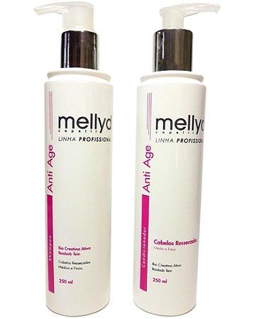 Mellyd Anti Age Cabelos Ressecados Shampoo e Condicionador