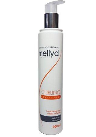 Mellyd Condicionador Cabelos Cacheados Curling Profissional 300 mL