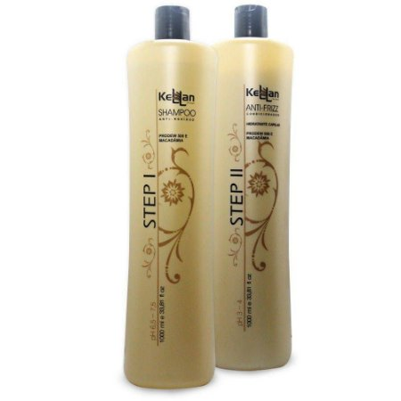 Kellan Selagem Step1 Shampoo Anti-residuo e Step 2 Ativo Anti-Frizz