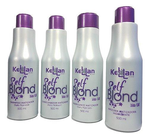 Kellan Kit Matizador Self Blond Completo Mix Oil Efeito Platinado