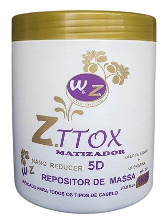Wz Cosméticos Z.ttox Matizador Botox Repositor de Massa 1Kg