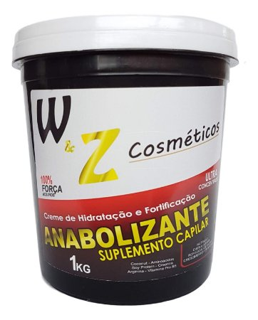 WZ Cosméticos Anabolizante Suplemento Capilar Creme Hidratação