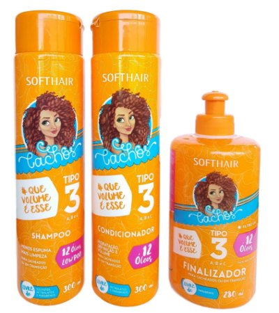 Softhair Kit Hidrata e Define Cachos Tipo 3abc Que Volume é Esse