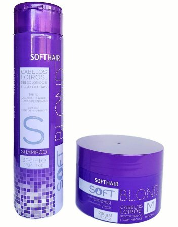 Softhair Soft Blond Shampoo e Máscara Kit matizador