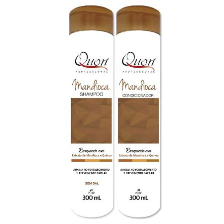 Quon Professional Kit Mandioca Shampoo e Condicionador