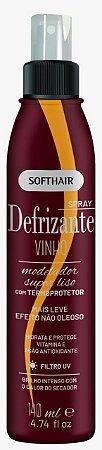 Soft Hair Spray Defrizante Vinho Termoprotetor  Modelador Super Liso 140mL