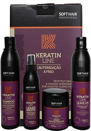 Soft Hair Keratin Line Kit Cauterização Á Frio