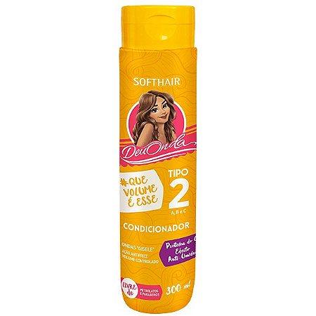 Soft Hair Deu Onda Condicionador Cabelo Tipo 2ABC