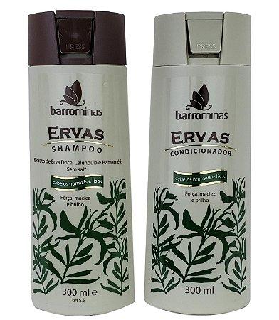 Barrominas Ervas Shampoo e Condicionador Cabelos Normais e Liso