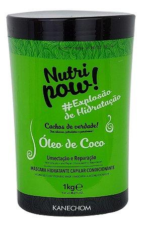 Kanechom Nutri Pow Máscara Hidratante Óleo de Coco Cachos 1kg