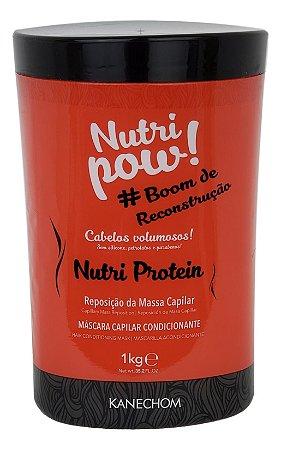 Kanechom Nutri Pow Nutri Protein Máscara Capilar Condicionante 1Kg