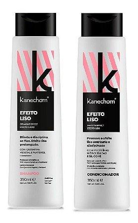 Kanechom Efeito Liso Shampoo e Condicionador Blinda Disciplina Fio