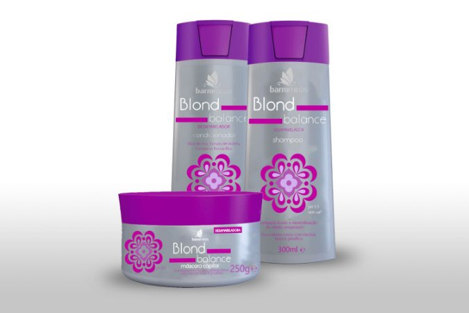 Barrominas Blond Balance Kit Desamarelador de Cabelos Loiros