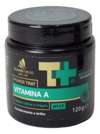 BMCare Power Trat Vitamina A Cabelos Secos e Frageis Barrominas