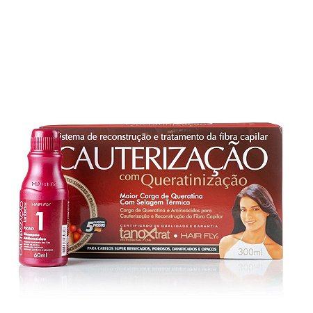 Hair Fly Cauterização Com Queratinização Carga de Queratina e Aminoácidos 300mL