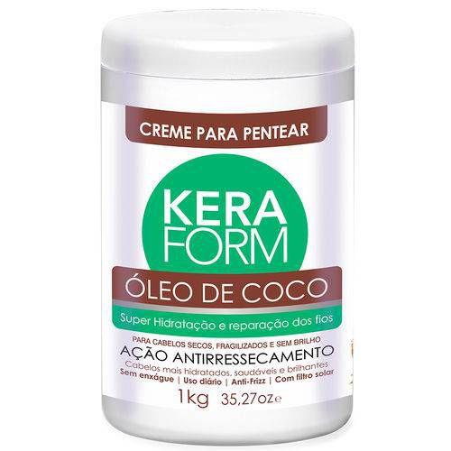 Skafe Keraform Creme Para Pentear Óleo de Coco Hidratação e Reparação dos Fios 1kg