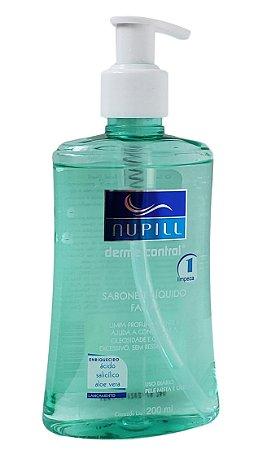 Nupill Derme Control Sabonete Líquido facial Limpa Profundamente Controla a Oleosidade e Brilho 200m