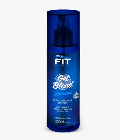 Fit Cosmetics Get Blond Platinum Fluído Matizador Em Spray 200ml