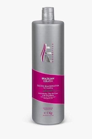 Fit Cosmetics Brazilian Keratin Escova Semi Definitiva Alisante 1L