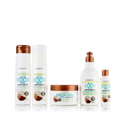 Hair Fly Óleo de Coco Real Kit Nutritivo Umectante