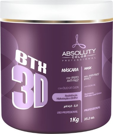 Absoluty Color BTX 3D Máscara Efeito Anti-frizz Botox 1kg