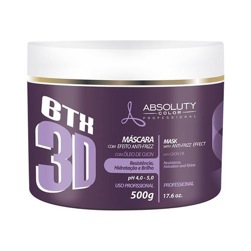 BTX 3D Absoluty Color Máscara Botox Efeito Anti frizz 500g