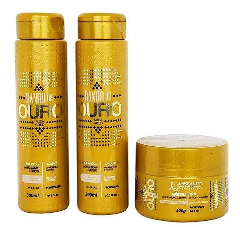 Absoluty Color Banho de Ouro Shampoo Condicionador e Máscara Home Care