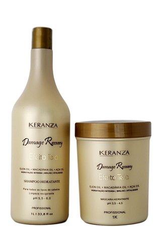 Keranza Demage Recovery Efeito Teia Kit Profissional 1Kg