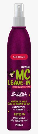 Softhair Crush Mc Leave-in Vinagre de Maçã Óleo de Semente de Uva Defrizante Spray