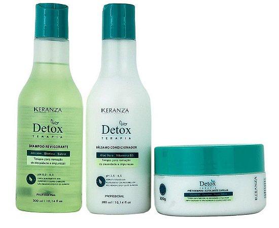 Detox Terapia Keranza Kit Para Remoção de Oleosidade e Impurezas