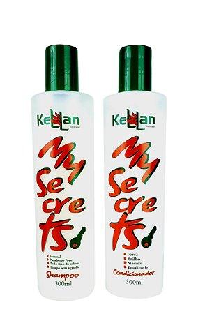 Kellan Shampoo e Condicionador Sem sal e sem Parabenos My Secrets