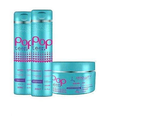 Absoluty Color Kit Pop Teen Home Care Cabelos Resistentes E Saudáveis