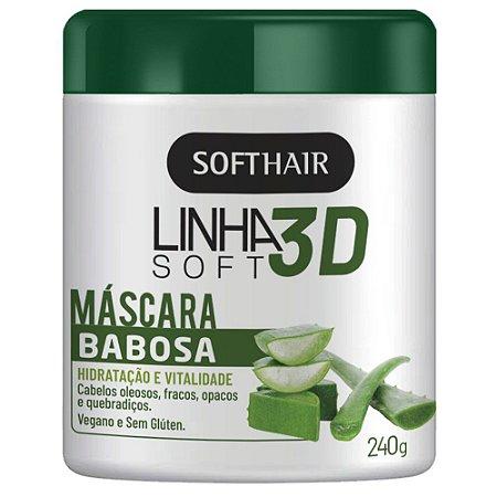 Linha 3d Sotfhair Máscara Babosa Hidratação E Vitalidade